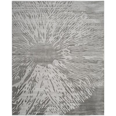 Moorhouse Hand-Woven Gray Area Rug Rug Size: Rectangle 8 x 10