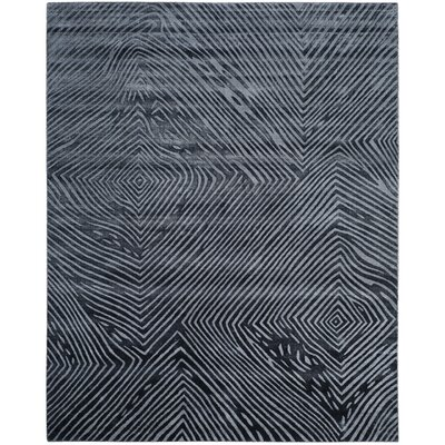 Moorhouse Hand-Woven Blue/Gray Area Rug Rug Size: Rectangle 8 x 10