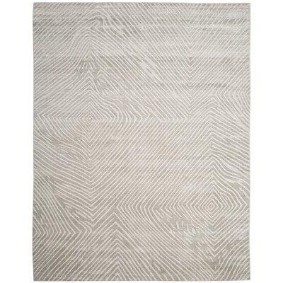 Moorhouse Hand-Woven Light Gray Area Rug Rug Size: Rectangle 8 x 10