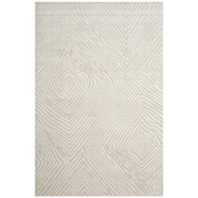 Moorhouse Hand-Woven Beige/Gray Area Rug Rug Size: Rectangle 6 x 9