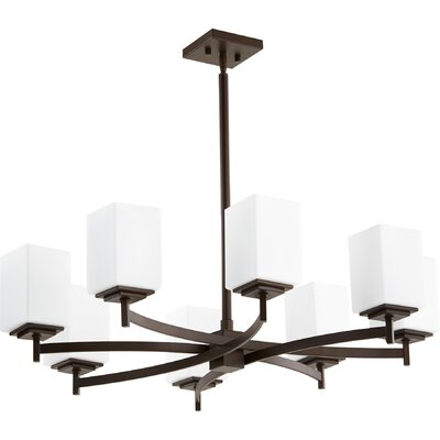 Hobart 8-Light Shaded Chandelier Finish: Oiled Bronze