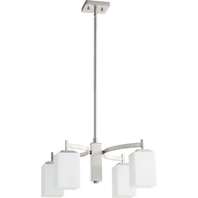 Hobart 4-Light Shaded Chandelier Finish: Satin Nickel