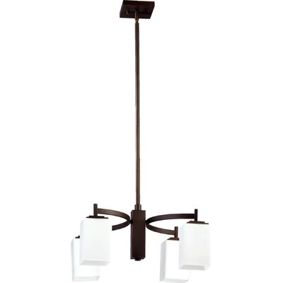 Hobart 4-Light Shaded Chandelier Finish: Oiled Bronze