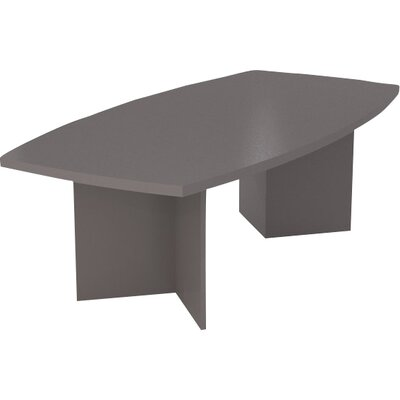 Mariana Boat shaped 30.4H x 47.5W x 96L Conference Table Finish: Slate