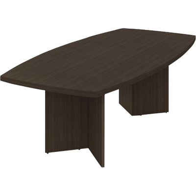 Mariana Boat shaped 30.4H x 47.5W x 96L Conference Table Finish: Dark Chocolate