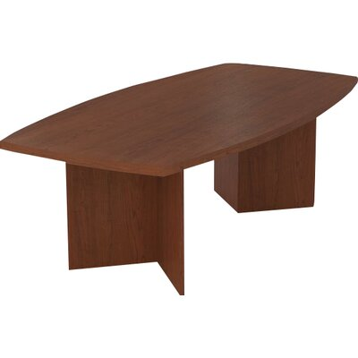 Mariana Boat shaped 30.4H x 47.5W x 96L Conference Table Finish: Bordeaux