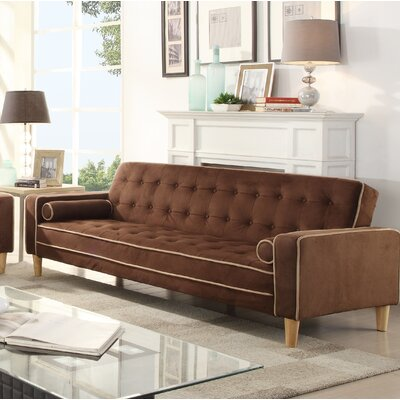 Navi Twill Sleeper Sofa Upholstery: Chocolate