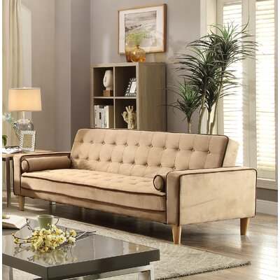 Navi Twill Sleeper Sofa Upholstery: Saddle