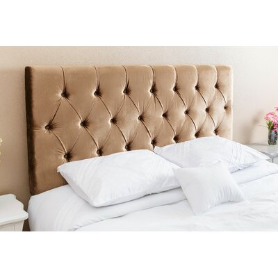 Rich Queen Upholstered Panel Headboard Upholstery: Gold