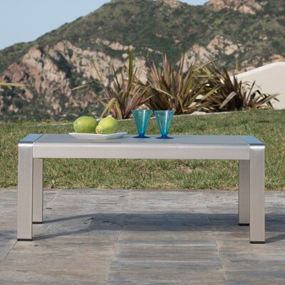 Durbin Outdoor Aluminum Coffee Table