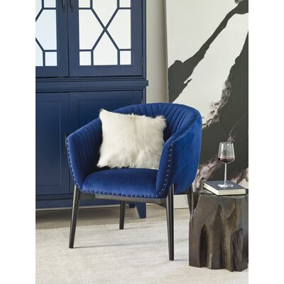 Hellwig Barrel Chair Upholstery: Blue