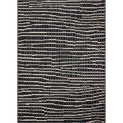Alcanza Black Area Rug Rug Size: Rectangle 53 x 73
