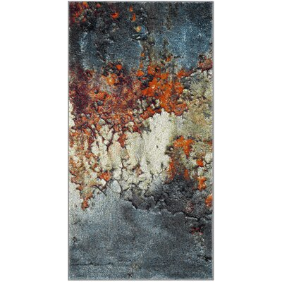 Acord Blue/Brown Area Rug Rug Size: Rectangle 4 x 6