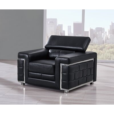 Stephenson Lounge Chair Upholstery: Black