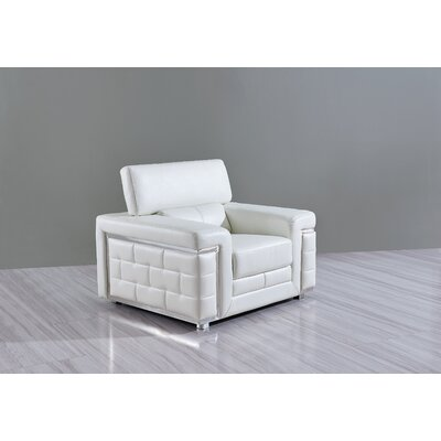 Stephenson Lounge Chair Upholstery: White
