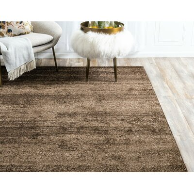 Elaina Brown Area Rug Rug Size: Rectangle 6 x 9