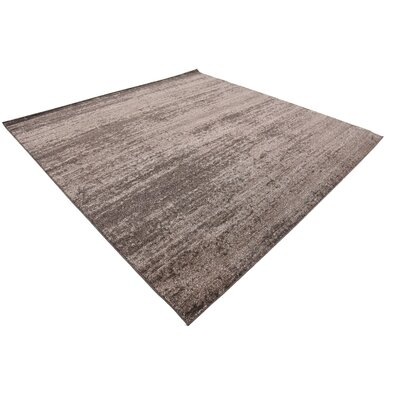Elaina Brown Area Rug Rug Size: Square 8