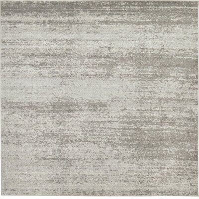 Croslin Gray Area Rug Rug Size: Square 8