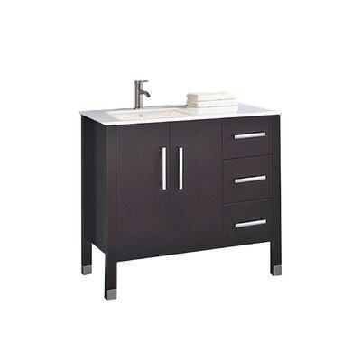 Predmore Modern 40 Wood Base Single Bathroom Vanity Set Base Finish: Espresso
