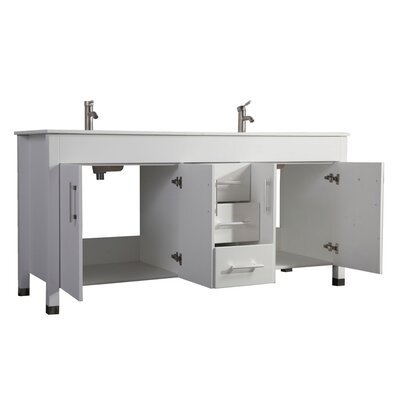 Predmore Modern 63 Double Bathroom Vanity Set Base Finish: White