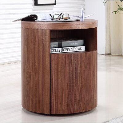 Armando End Table Color: Walnut