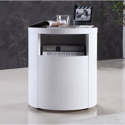 Armando End Table Color: White