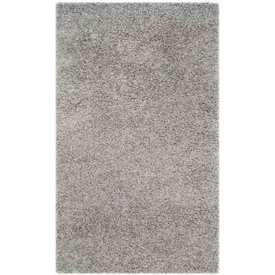 Mccall Silver Shag Area Rug Rug Size: Rectangle 3 x 5