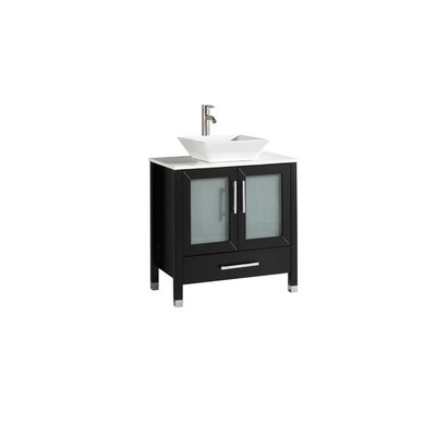 Preciado Modern 24 Single Bathroom Vanity Set Base Finish: Espresso