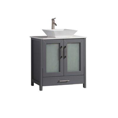 Preciado Modern 30 Single Bathroom Vanity Set Base Finish: Gray