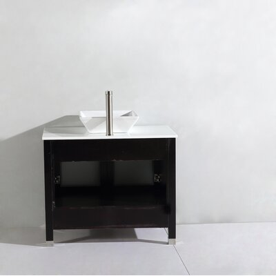 Preciado Modern 48 Single Bathroom Vanity Set Base Finish: Espresso