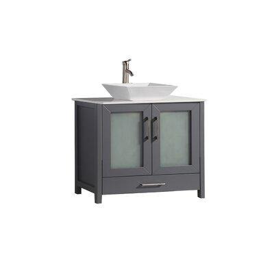 Preciado Modern 48 Single Bathroom Vanity Set Base Finish: Gray