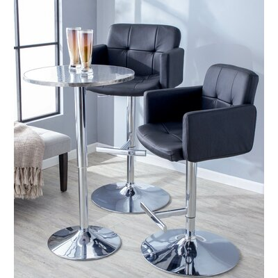 Aurora Swivel Bar Stool Upholstery: Black