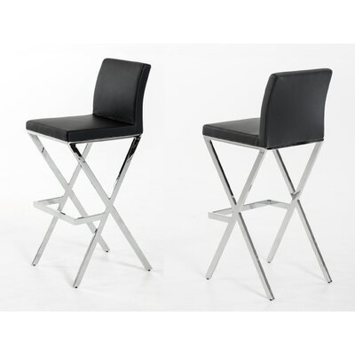 Belafonte 29.5 Bar Stool Upholstery: Black