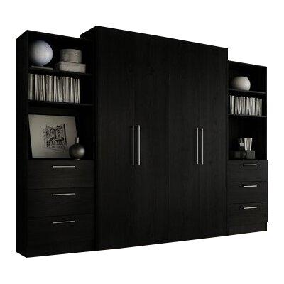Lower Weston 3 Drawer Storage Unit Color: Black Wood Grain