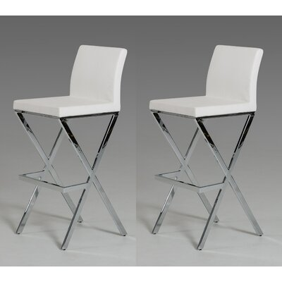 Belafonte 29.5 Bar Stool Upholstery: White
