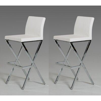 Belafonte 29.5 Bar Stool Upholstery: White