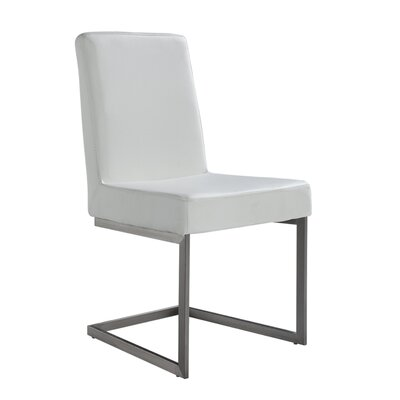 Justice Upholstered Side Chair Color: White