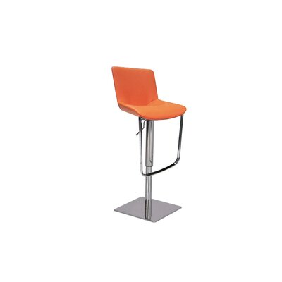 Robin Adjustable Height Swivel Bar Stool Upholstery: Orange