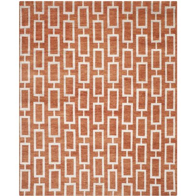 Ashville Rust Rug Rug Size: Rectangle 8 x 10