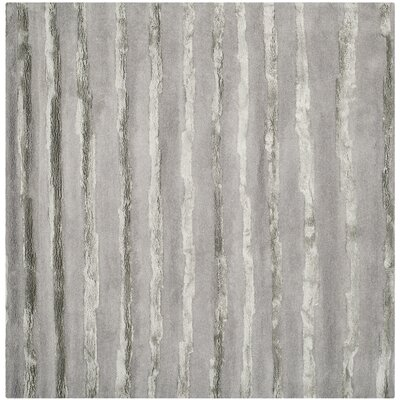 Avonmore Hand-Tufted Wool Gray Area Rug Rug Size: Square 8