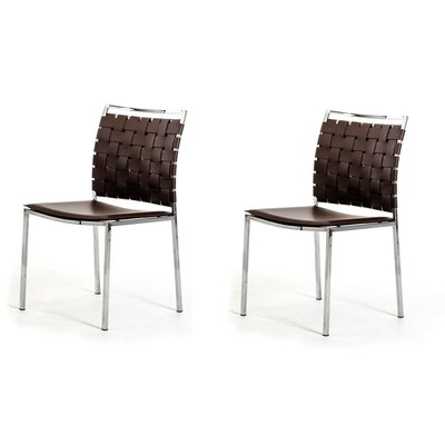 Belafonte Dining Chair Upholstery: White/Brown