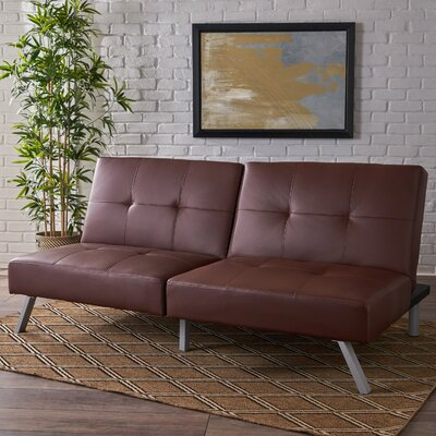 Zandra Convertible Sofa Upholstery: Brown