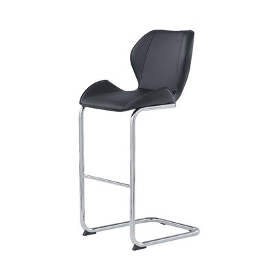 26 Bar Stool Upholstery: Black