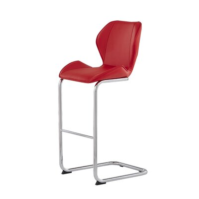 26 Bar Stool Upholstery: Red