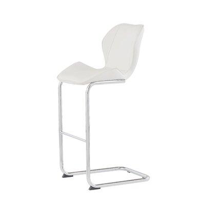26 Bar Stool Upholstery: White