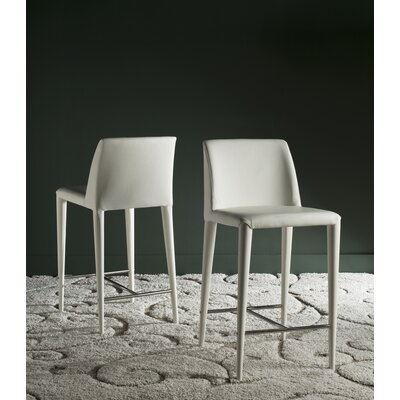 Zackary 26 Bar Stool Upholstery: White