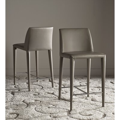 Zackary 26 Bar Stool Upholstery: Taupe