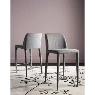 Zackary 26 Bar Stool Upholstery: Light Gray