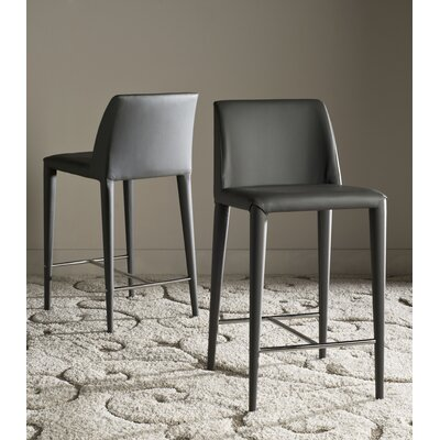 Zackary 26 Bar Stool Upholstery: Gray