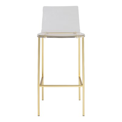 Casserley 35 Counter Bar Stool Color: Brushed Gold, Seat Height: 30